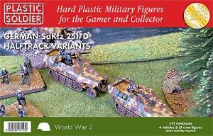 WW2V20016 German Sd.Kfz.251/D Variants kit. WWII German SdKfz 251/D Halftrack Variants Kit